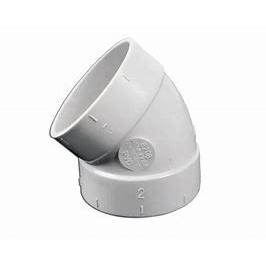 Valet 45 Degree Elbow White VAC 077