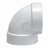Valet 90 Degree Extra Short Elbow White VAC 277
